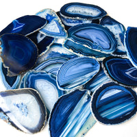 "Blue Agate Place Cards 2.5""-3.75"" Blank Geode Wedding Crystals Placecards Bulk Agate Slices Wholesale Geodes"
