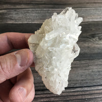 "Clear Quartz Cluster: 3.5 oz (100 g); 3.35"" Long; A+ Quality Rough Raw Mineral"