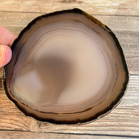 "Large Natural Agate Slice - Approx 4.45"" Long - Large Agate Slice"