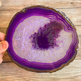 "Extra Large Purple Agate Slice - Approx 6.3"" Long - Large Agate Slice"