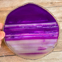"Extra Large Purple Agate Slice - Approx 6.0"" Long - Large Agate Slice"