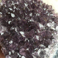 Amethyst Crystal Cluster: 15.5 oz (440 g), A+ Quality, Stone Mineral