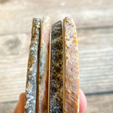 "Set of 4 Large Natural Agate Coasters (Approx. 3.45- 3.9"" Long), Geode Quartz Crystal"