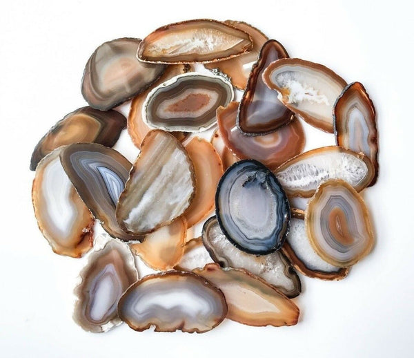"Natural Agate Place Cards 2.5""- 3.75"" Blank Geode Wedding Crystals Placecards Bulk Agate Slices Wholesale Geodes"
