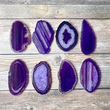 "Purple Agate Place Cards 2.5""-3.75"" Blank Geode Wedding Crystals Placecards Bulk Agate Slices Wholesale Geodes"