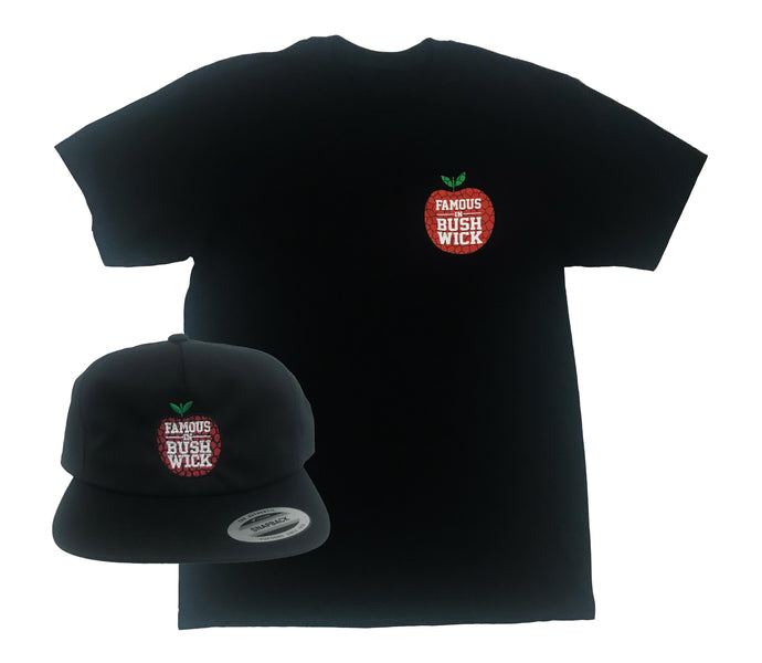 Art Apple NYC x Famous In Bushwick Shirt & Snapback Double Up