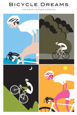 Bicycle Dreams Cycling Poster