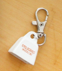 Cyclocross Magazine Mini Cowbell Keychain