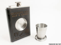 Handups Are Not a Crime Flask