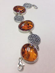 Honey Amber Celtic Bracelet