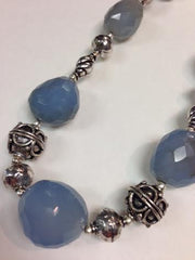 Chalcedony Necklace with S.S. Bali Beads