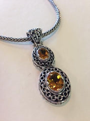 Double citrine Bali Necklace