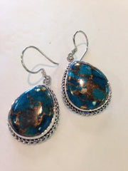 Blue Mountain Turquoise Earrings