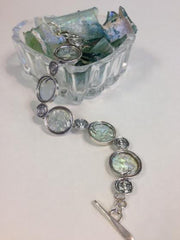 Round Links Roman Glass bracelet