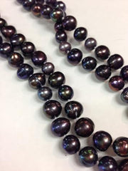 "65"" long Single Strand Black Pearl"