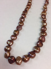 Dark Brown Single Strand Pearl Necklace