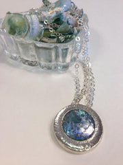 Round Roman Glass Necklace