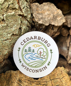 Nature Circle Sticker