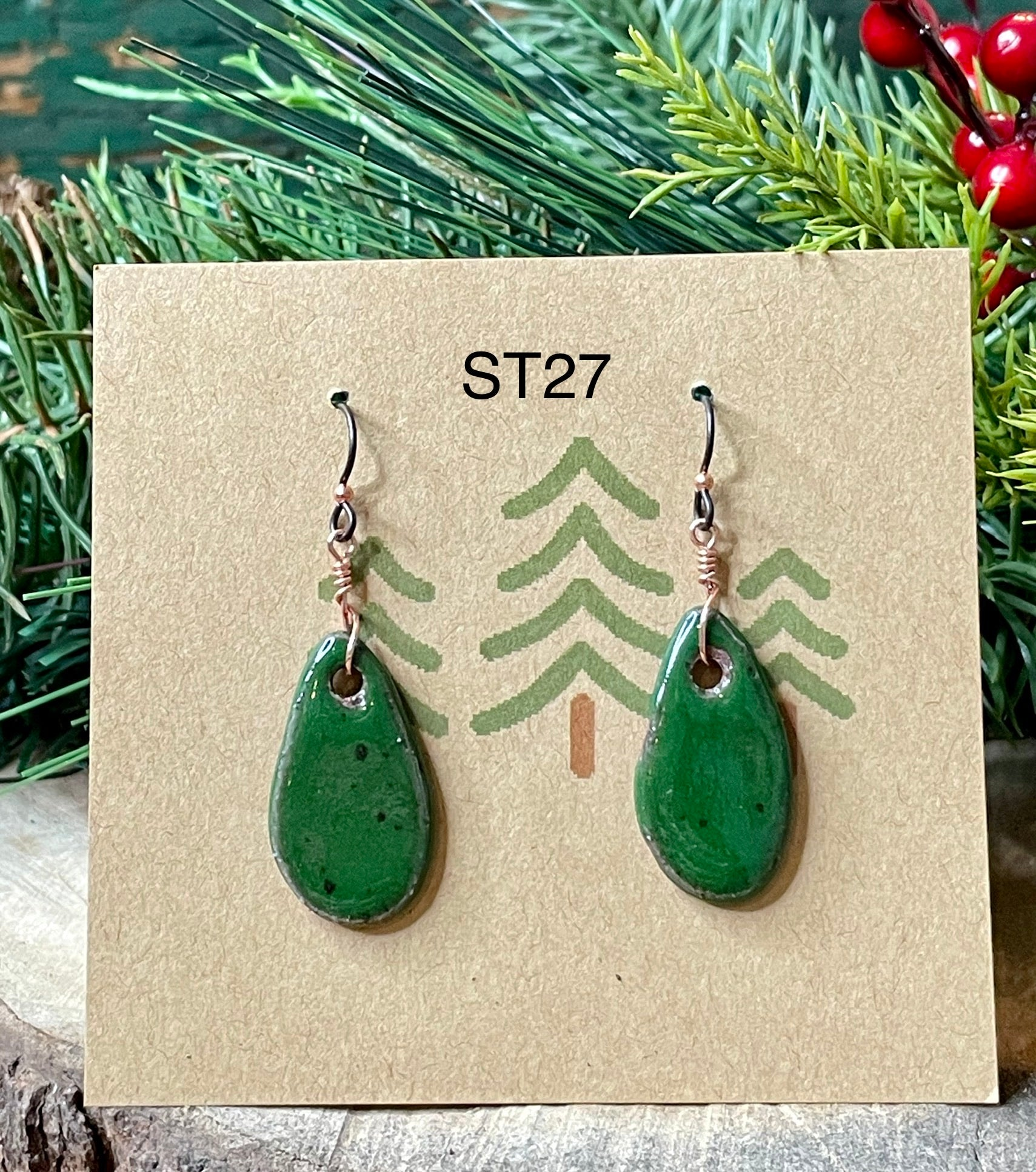 Small Ceramic Teardrop Earrings - 9 different pairs available!