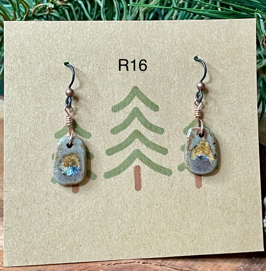 Rectangle Ceramic Earrings - 9 different pairs available!