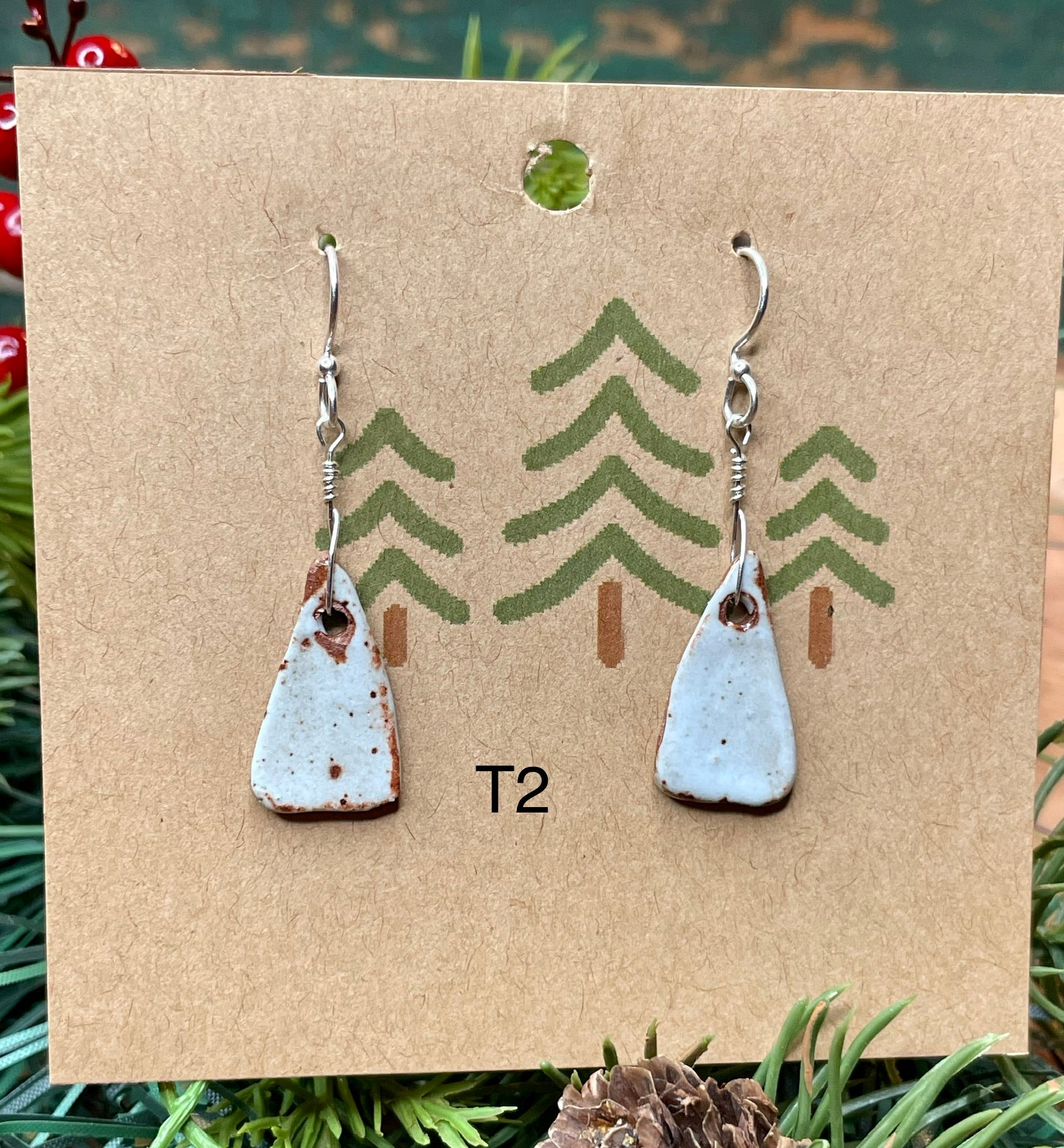 Triangle Ceramic Earrings- 2 pairs available!