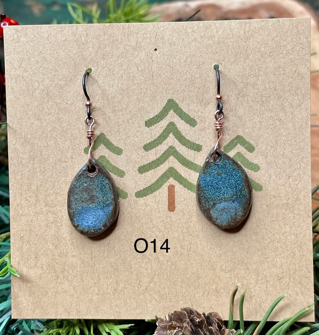 Oval Ceramic Earrings -5 different pairs available