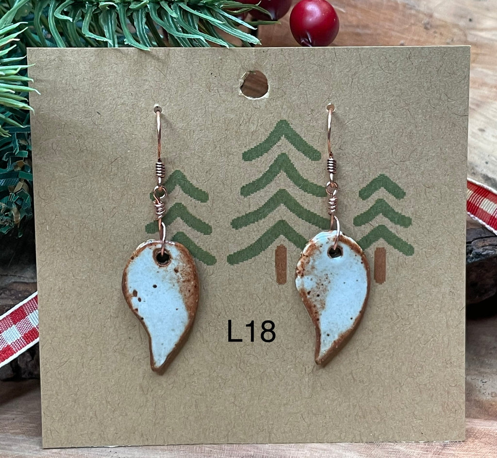 Leaf Ceramic Earrings -15 pairs to choose from!