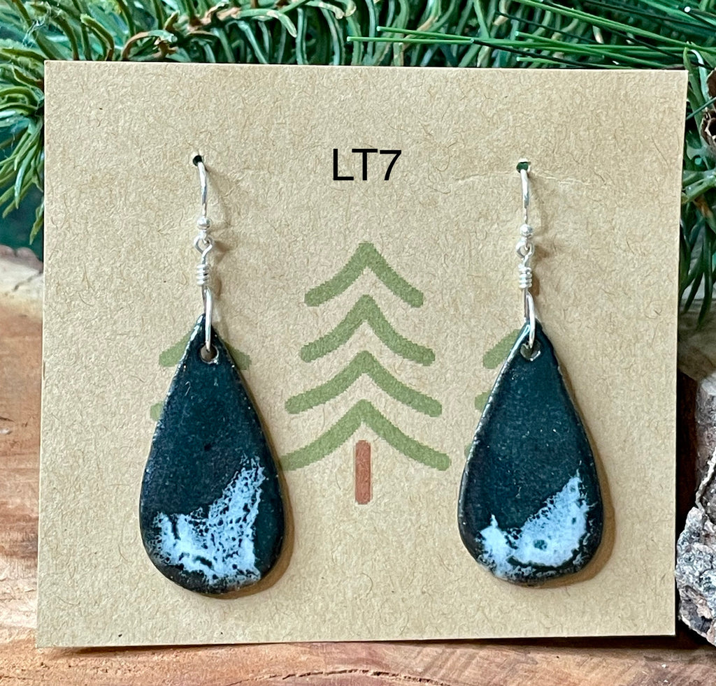 Large Ceramic Teardrop Earrings - 3 pairs available!