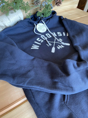 Wisconsin Paddle Unisex hoodie | 4 colors with a white design - Local Delivery