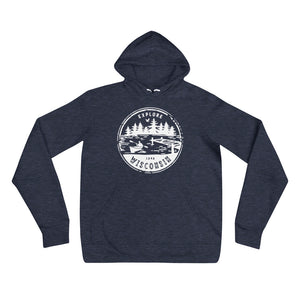 Explore Wisconsin Unisex hoodie |4 colors available - White Design
