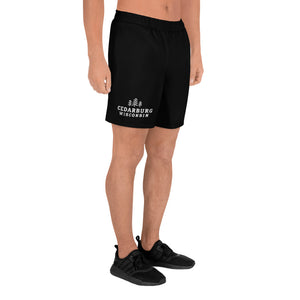 Black Athletic shorts with white Cedarburg, Wisconsin design