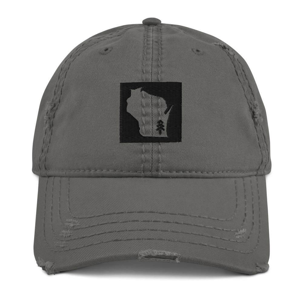 Wisconsin Tree Distressed Dad Hat | 2 colors
