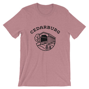 Covered Bridge Cedarburg t-shirt in heather prism lilac