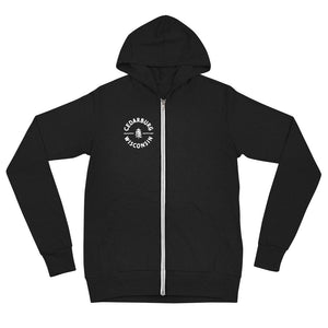 Circle Cedarburg Unisex zip hoodie | 3 colors available - White Design