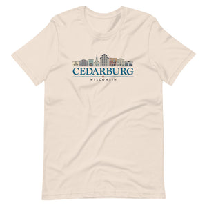 Soft Cream Unisex T-shirt with color Downtown Cedarburg design