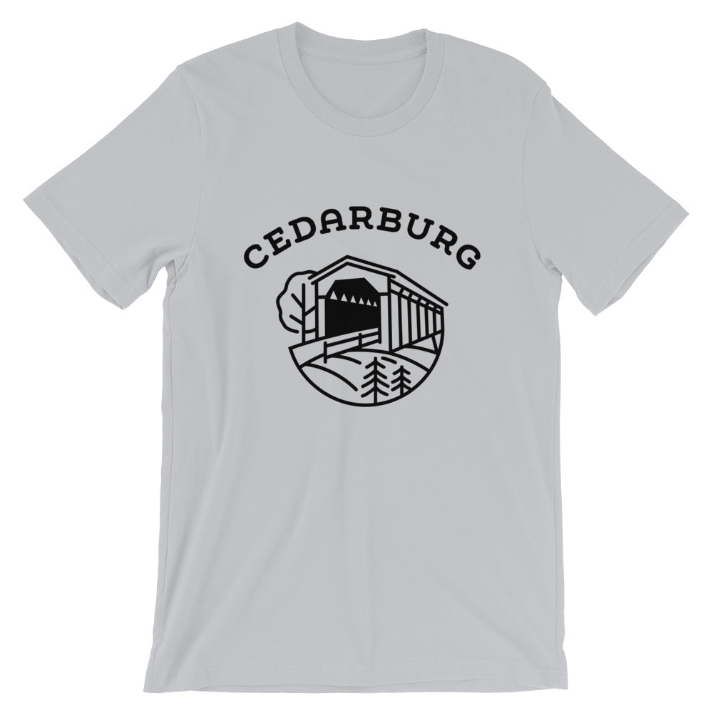 Covered Bridge Cedarburg t-shirt in grey