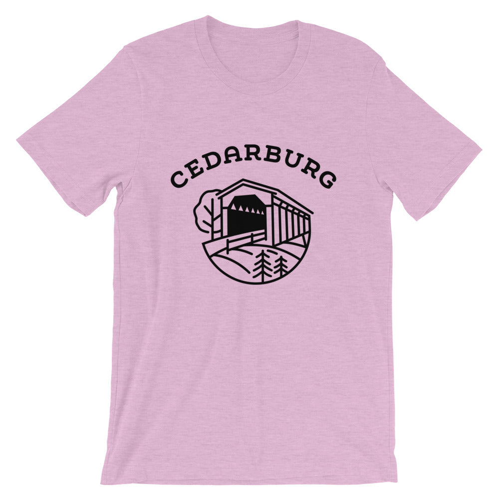 Covered Bridge Cedarburg t-shirt in pink