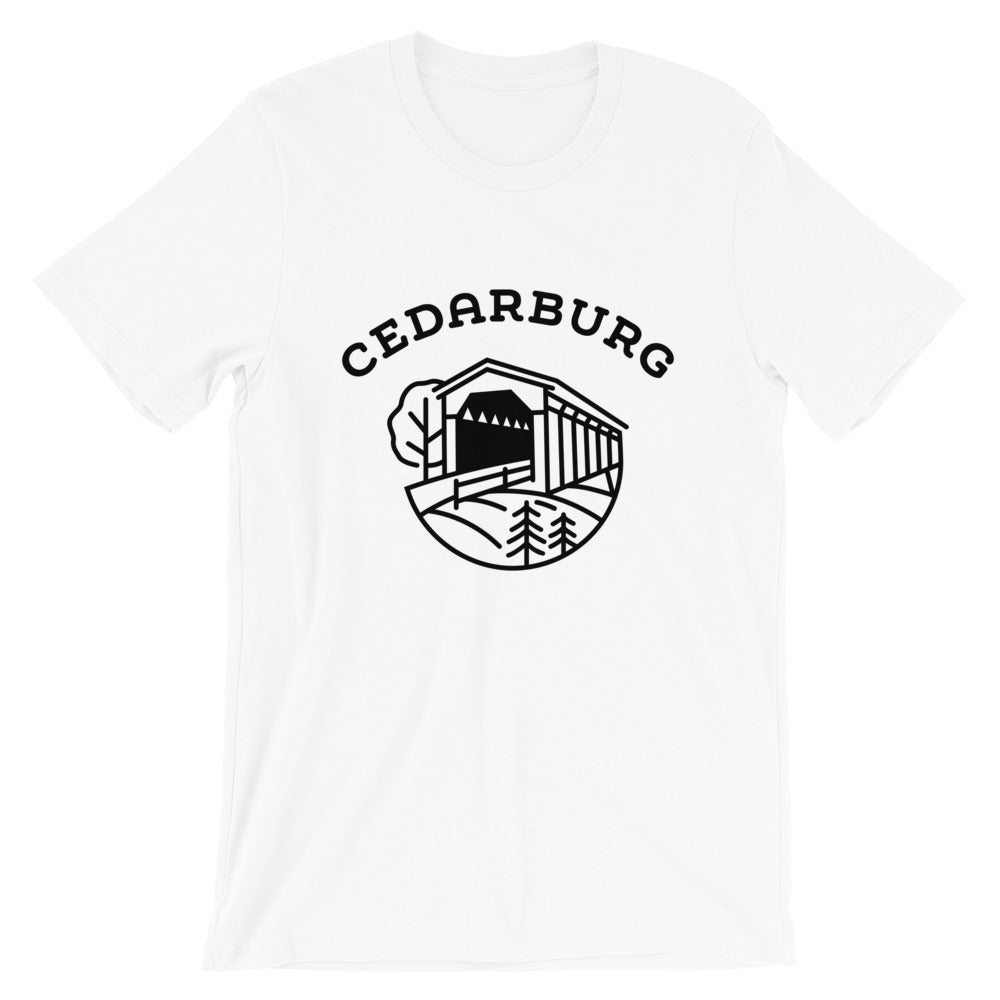 Covered Bridge Cedarburg t-shirt in white