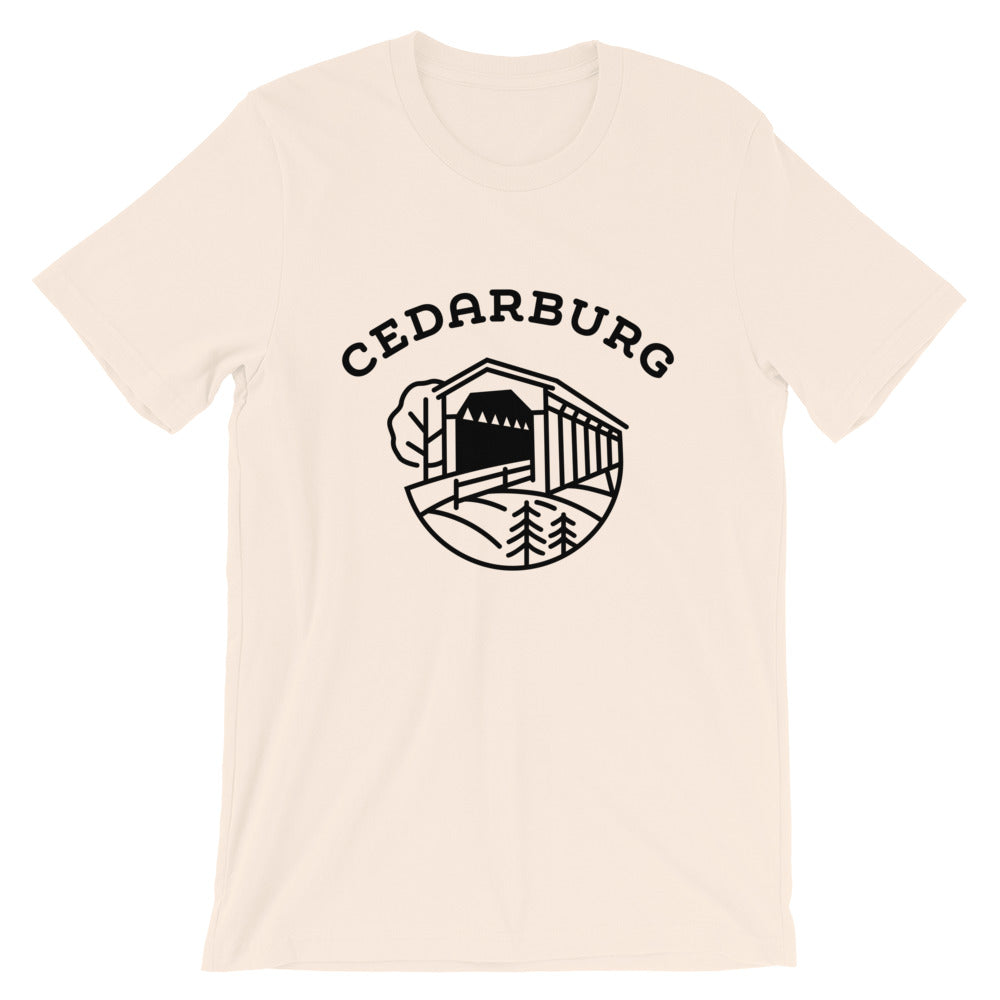 Covered Bridge Cedarburg t-shirt in soft cream