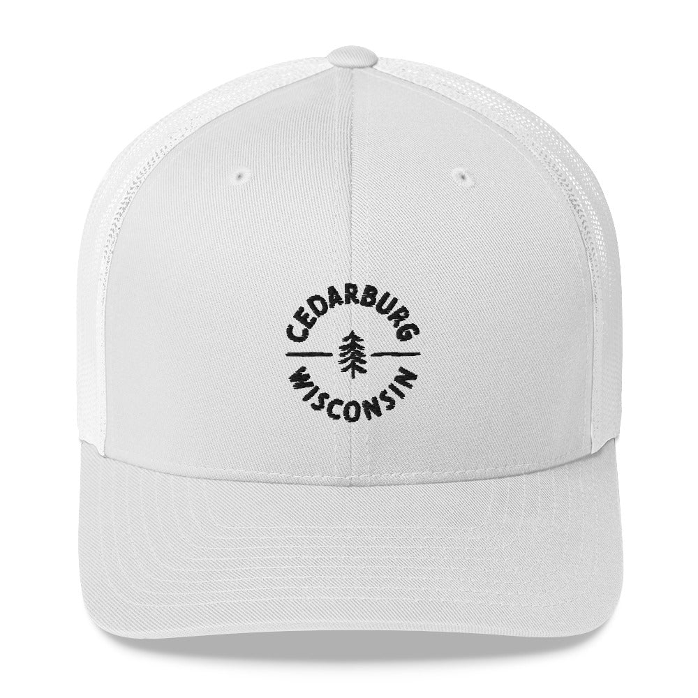 Circle Cedarburg Trucker Cap | 4 colors - Black Design