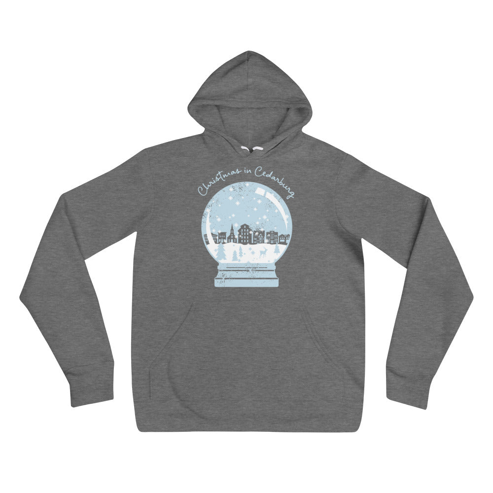 Snow Globe Unisex hoodie | 3 colors - light blue design