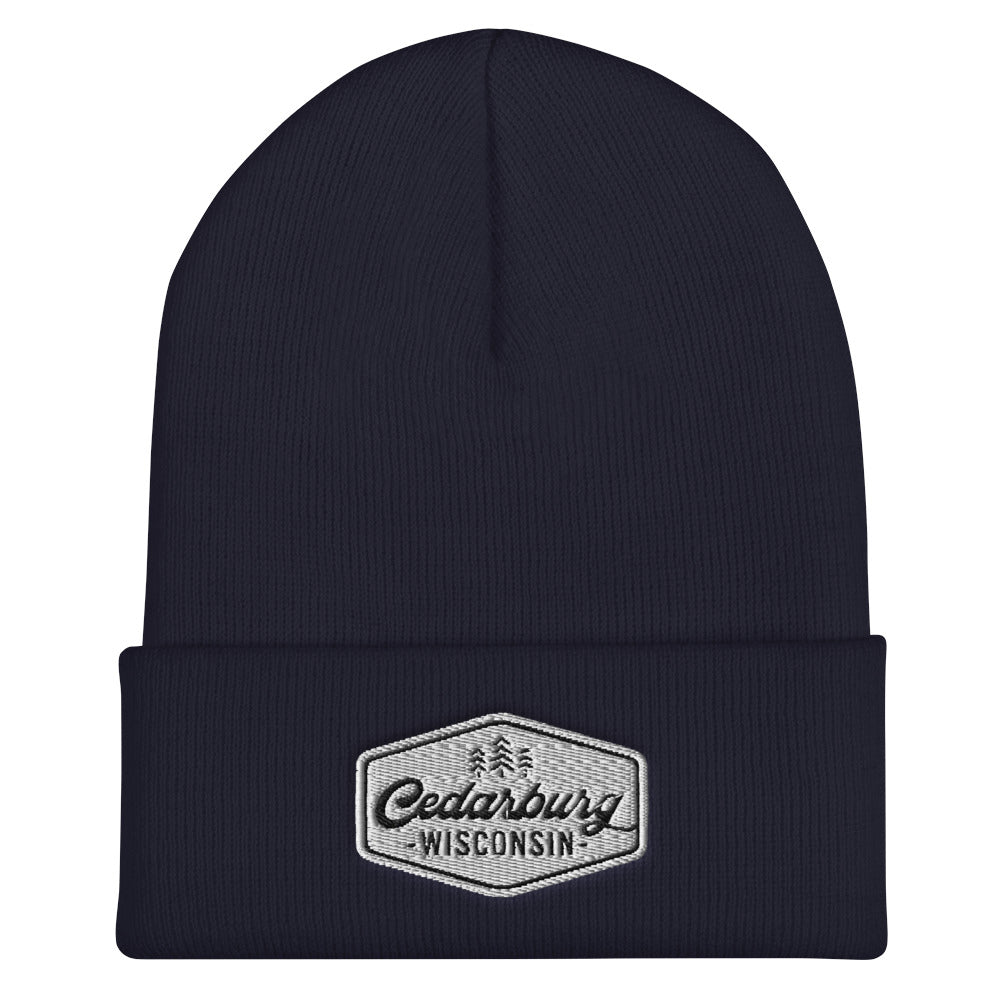 Vintage Cedarburg Cuffed Beanie | 6 colors - White Design