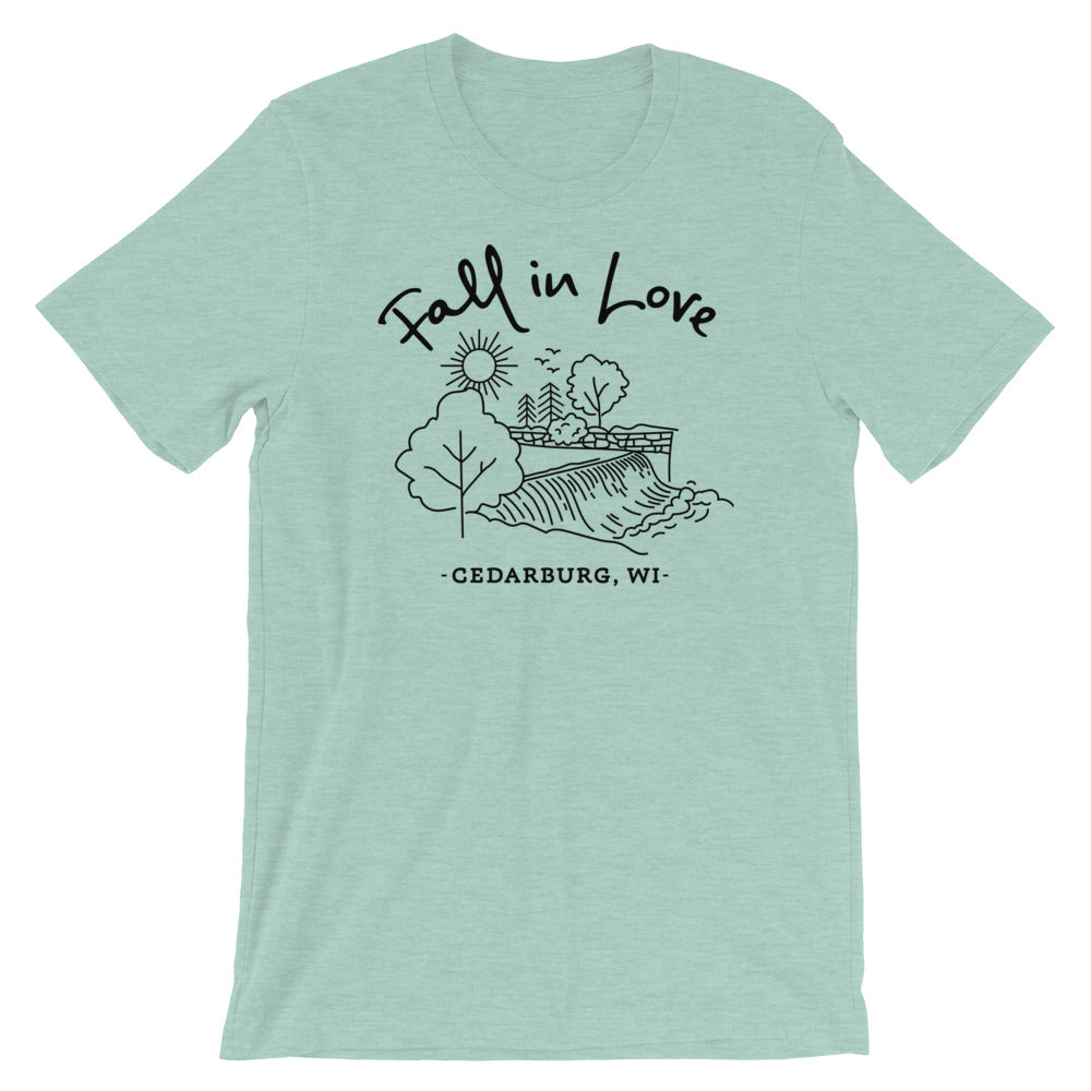 Fall in Love Unisex T-Shirt |11 colors - Black Design