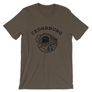 Covered Bridge Cedarburg t-shirt in army