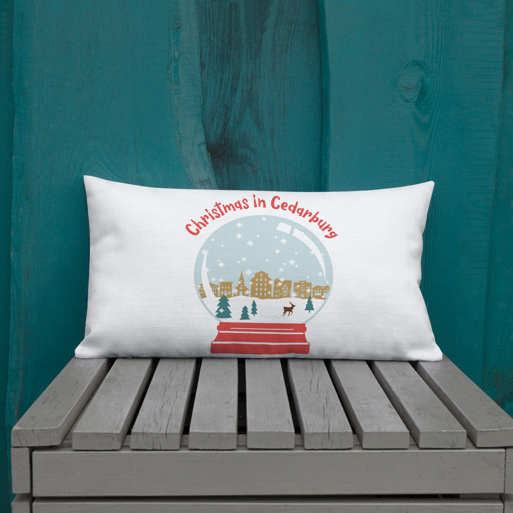 20 x012 inch premium pillow with color snow globe design