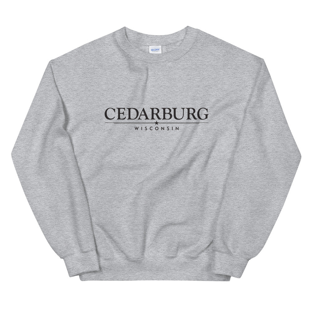 Sport Grey Sweatshirt with the Cedarburg star design in black