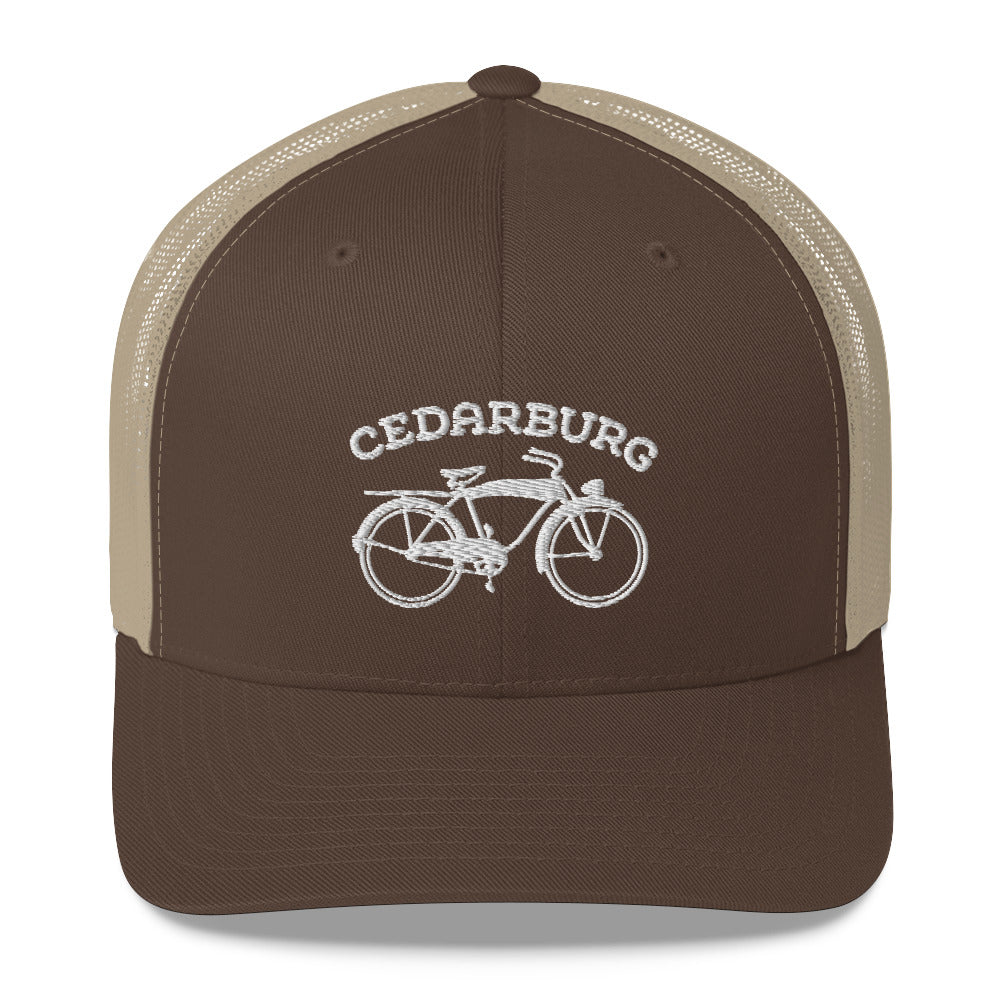 Vintage Bike Trucker Cap - White Design