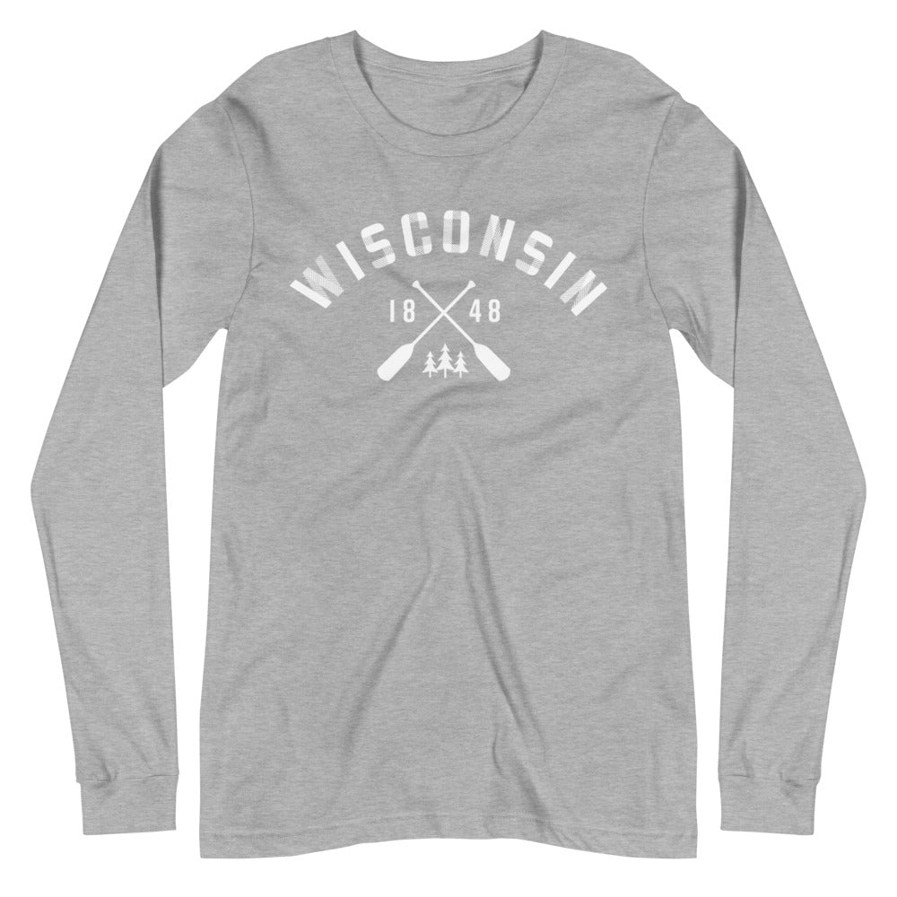 Athletic Heather Long Sleeve Unisex Wisconsin Paddle Tee