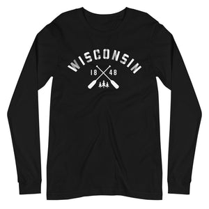 Black Long Sleeve Unisex Wisconsin Paddle Tee