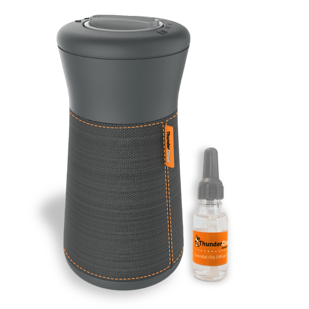 ThunderCloud calming sound machine for dogs with essential oils for dogs with refill